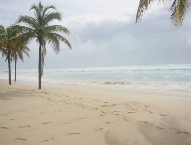 Ein verlassener Strand