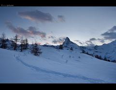 Ein Weg zum Matterhorn