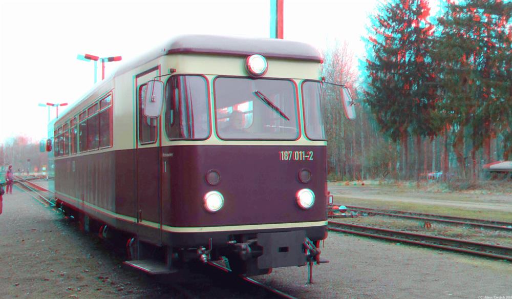 Ein weiterer Triebwagen der Harzer Schmalspur Bahnen