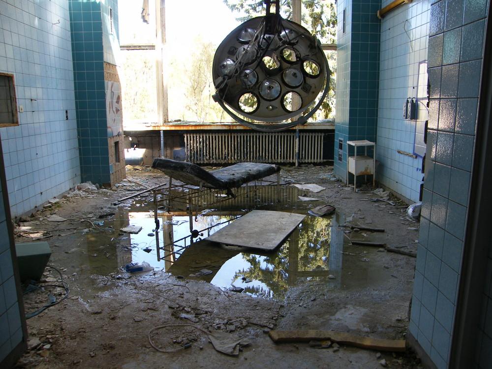 Ein weiteres Foto aus dem ehemaligen Operationssaal.....