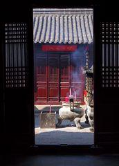 Einblick in daoistischen Tempel