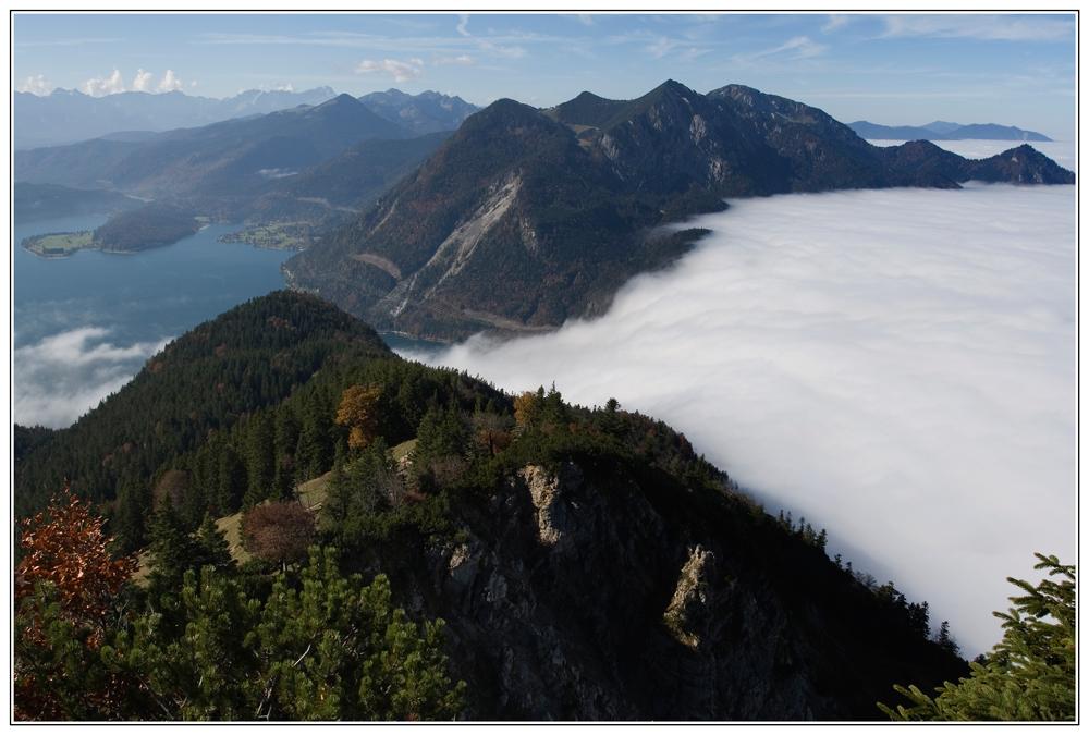 Einbruch des Nebels ins Tal