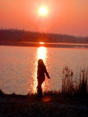Eine aufgehende Sonne