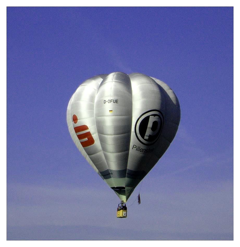 Eine ballonfahrt die is lustig ....