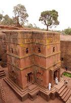 Eine der best erhaltenen Felsenkirche in Lalibela
