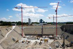 Eine der grössten Baugrube der Schweiz