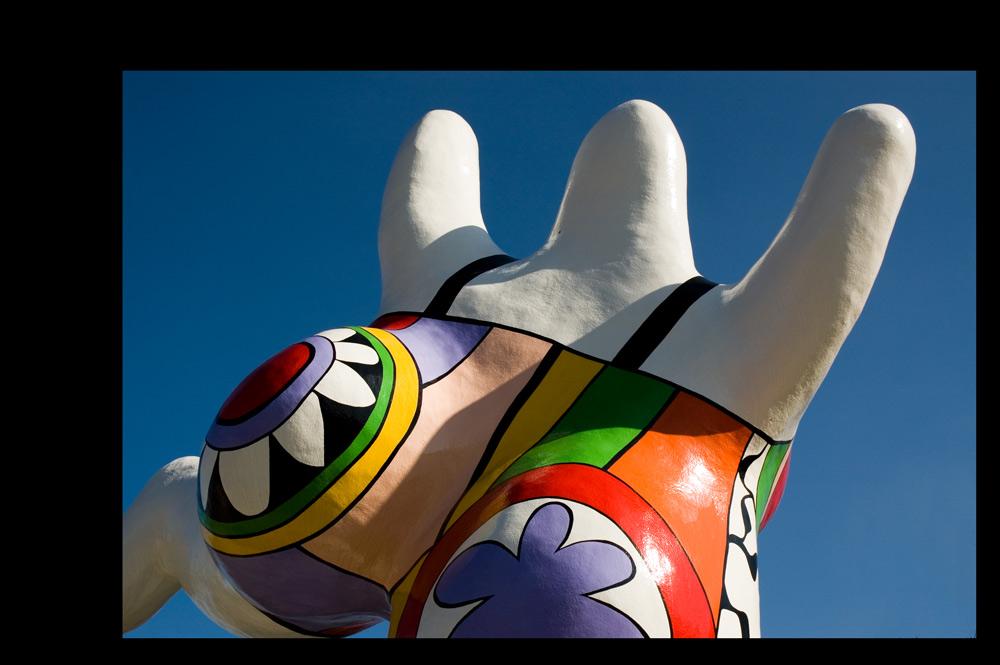 """Eine der """"Nanas"""" von Niki De Saint Phalle in Hannover"""