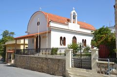 Eine Dorfkirche auf Kreta.