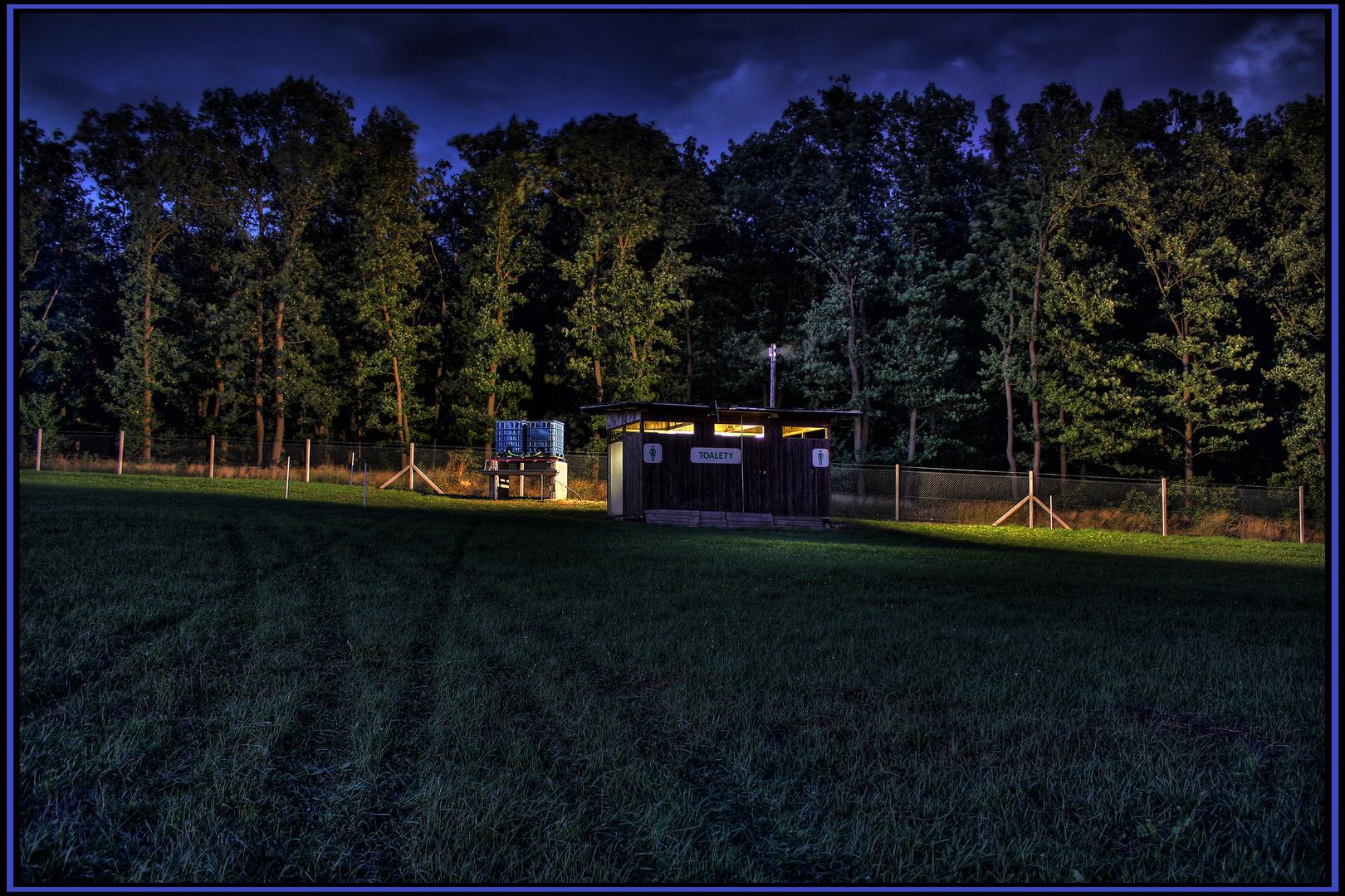 eine einsame Hütte...