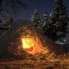 Eine eisige Hütte