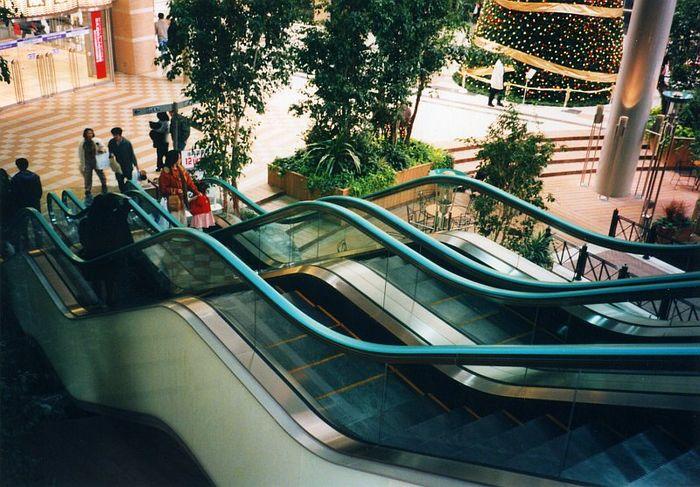 Eine etwas andere Rolltreppe