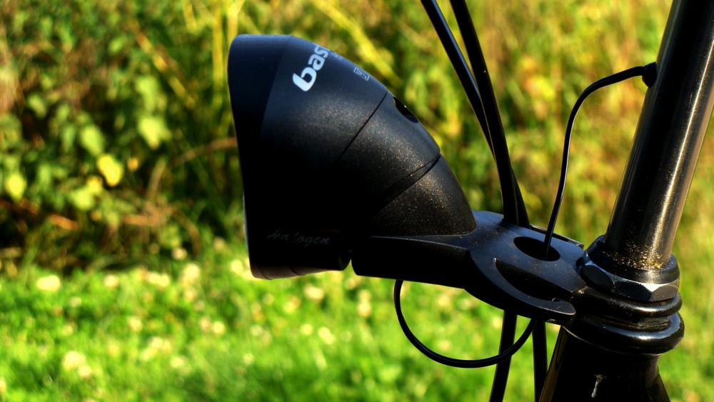 Eine Fahrradlampe stört die Natur keineswegs,