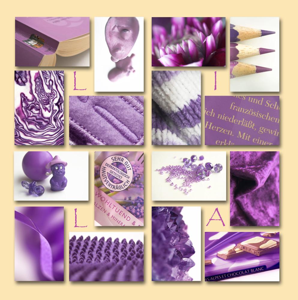 EINE Farbe: lila