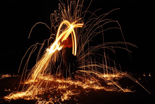 Eine Feuershow der Extraklasse...