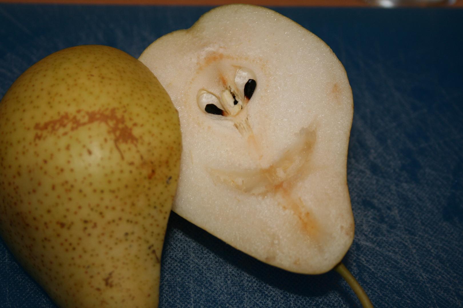 Eine fröhliche Birne am Morgen ...