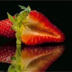 Eine ganz leckere Erdbeere