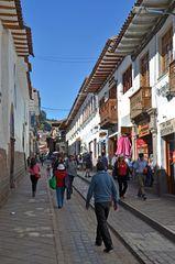 Eine Gasse im Zentrum von Cusco
