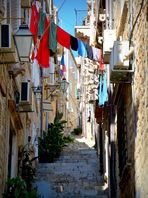 Eine Gasse in Kroation