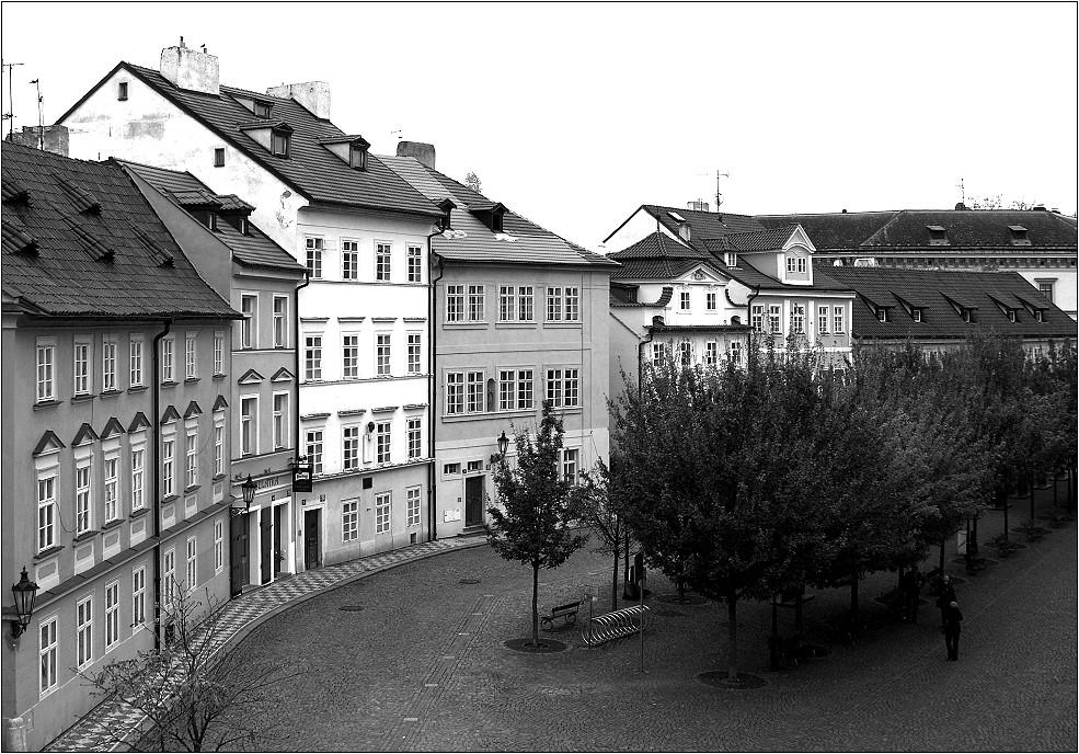 Eine Gasse in Prag