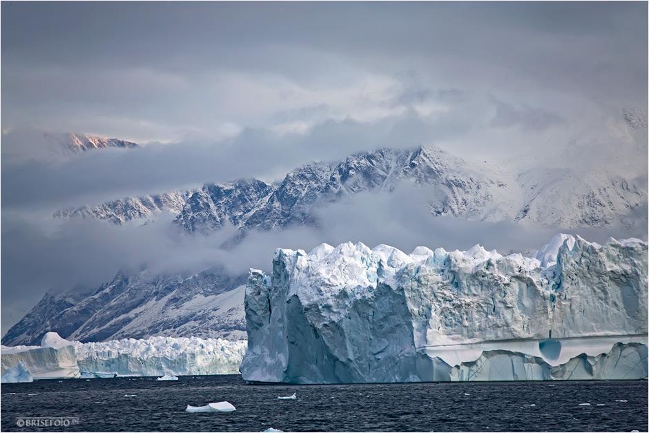 Eine gigantische Gletscherlandschaft...