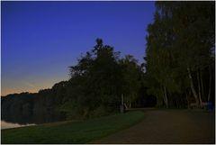 Eine Herbstnacht an der Seenplatte