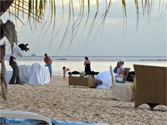 Eine Hochzeit auf Mauritius kann schon sehr romantisch sein ....