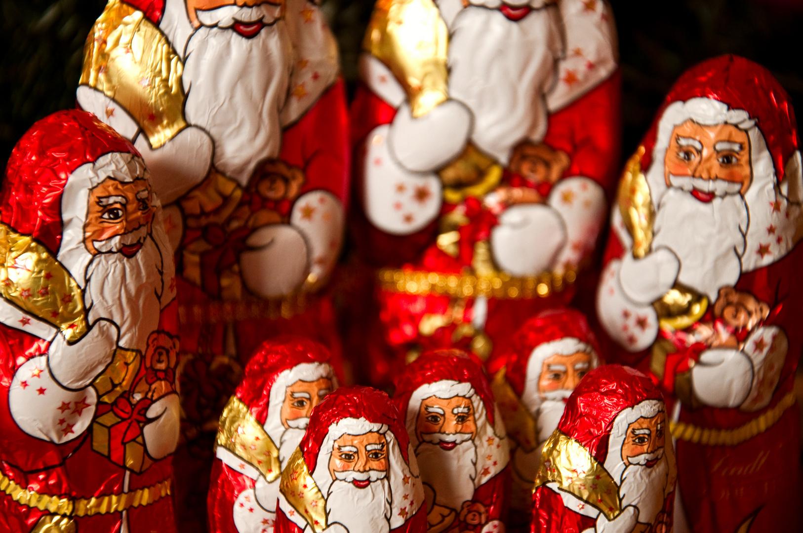 Eine Horde Weihnachtsmänner