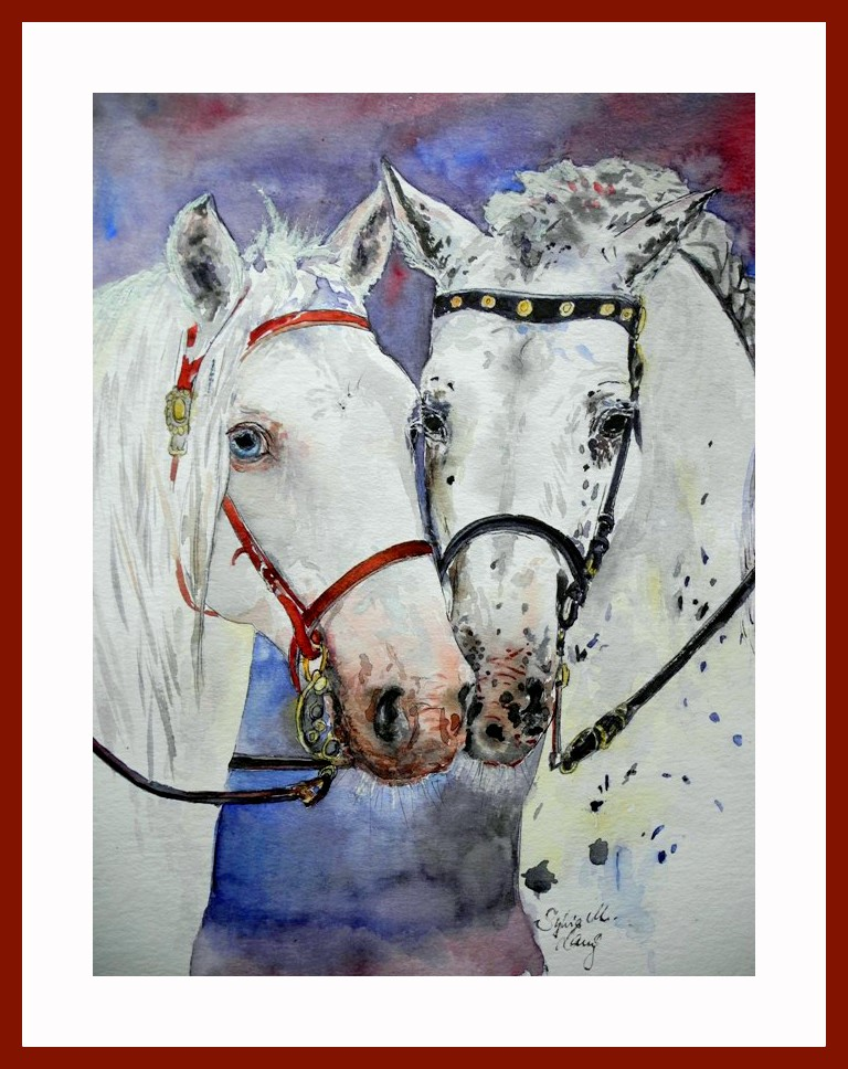 Eine innige Pferdefreundschaft