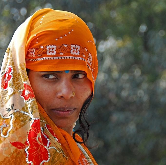 eine junge, indische Frau