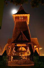 Eine kleine Holzkirche irgendwo in Zakopane (PL)