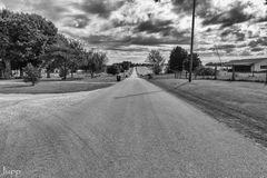 Eine Landstraße im Warren County, Kentucky