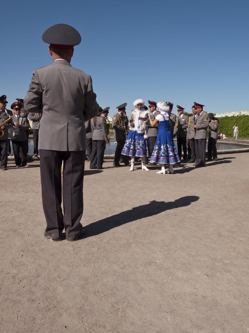 Eine Militärkapelle aus Perm