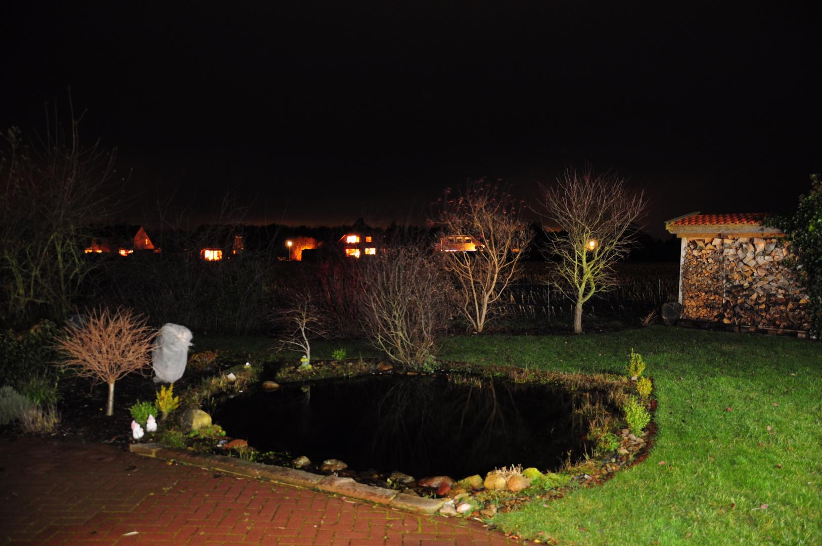 Eine Nacht im Garten