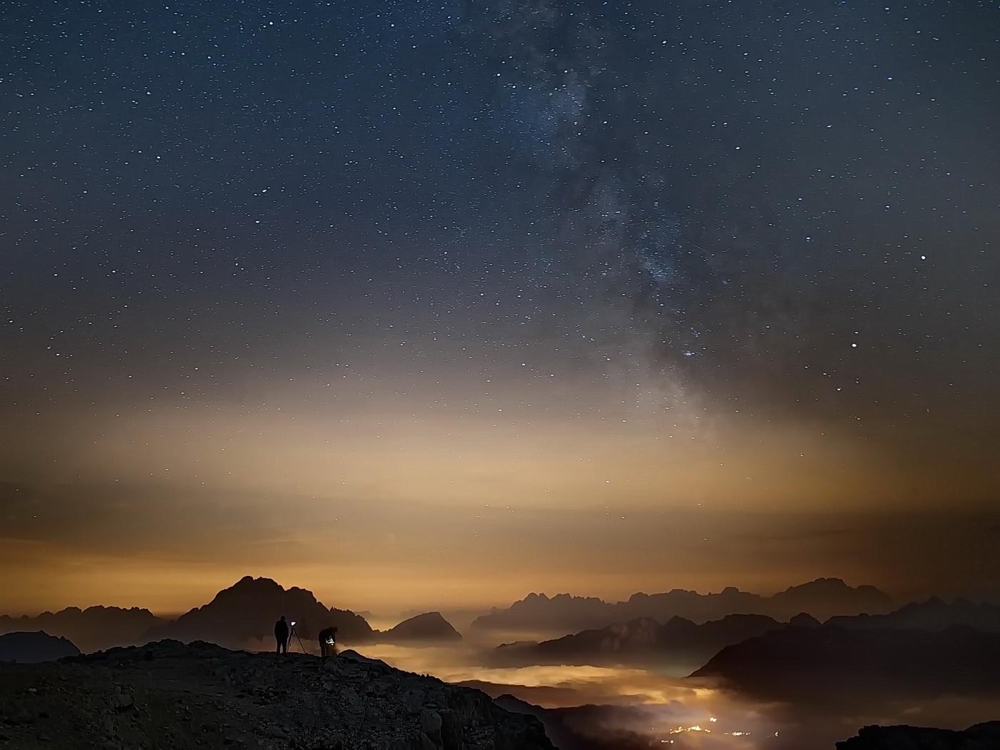 Eine Nacht in den Dolomiten