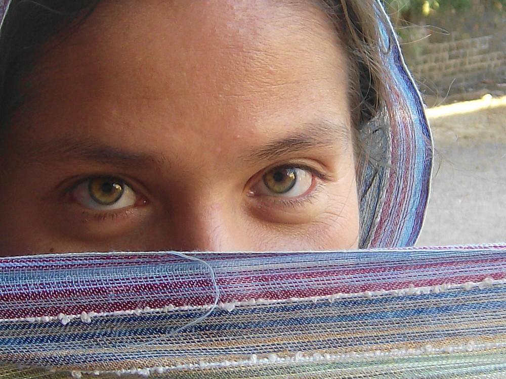 Eine Peruanerin in Indien