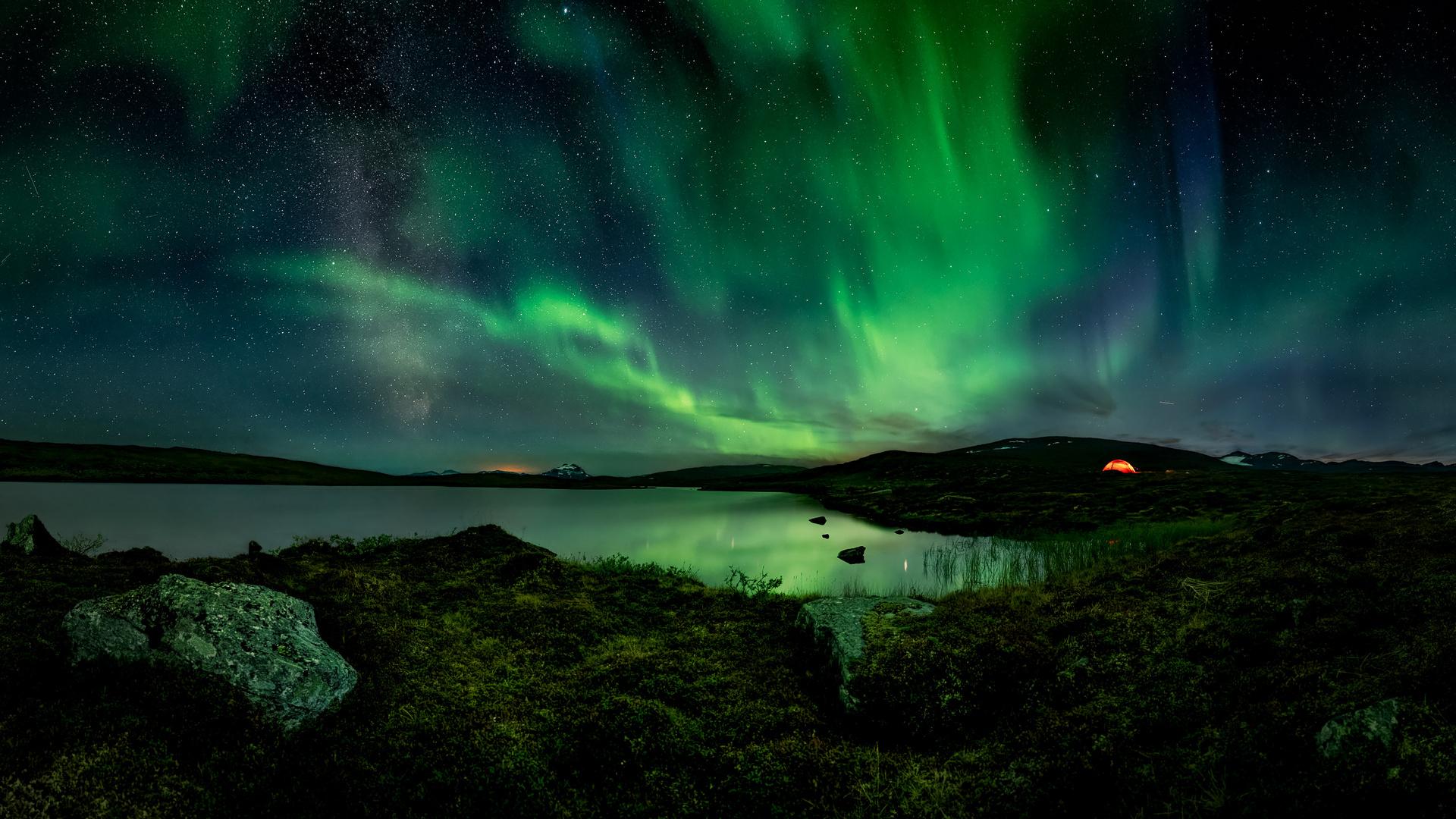 eine polare Sommernacht