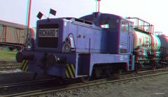 Eine Rangierlokomotive der DDR-Reichsbahn ...