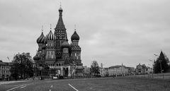 Eine Rarität....ein leerer, Roter Platz in Moskau