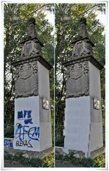 Eine Schande - illegale Sprayer haben keine Achtung mehr vor historischen Denkmäler