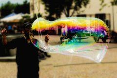 Eine Seifenblase focussiert
