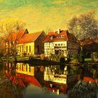 eine Spiegelung in Wienhausen am Mühlbach,