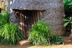 Eine Strohhütte der Dorze...