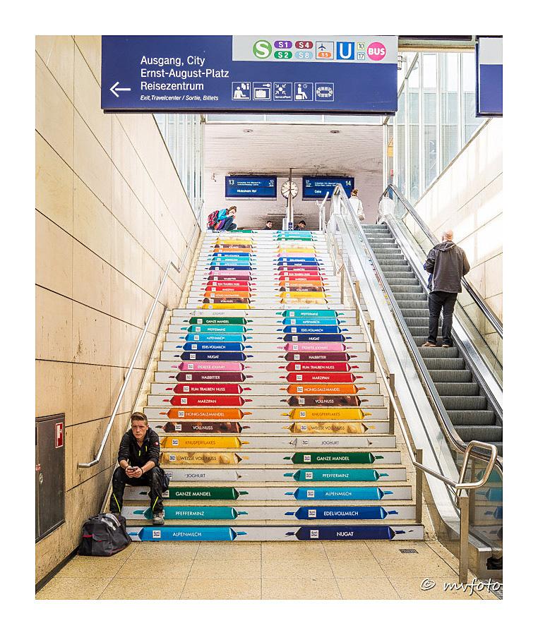 eine süße Treppe