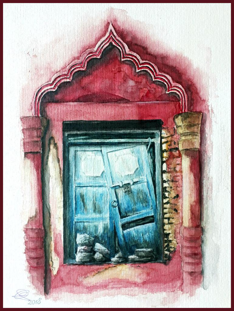 Eine Tur Aus Jaipur Indien Foto Bild Architektur Rot