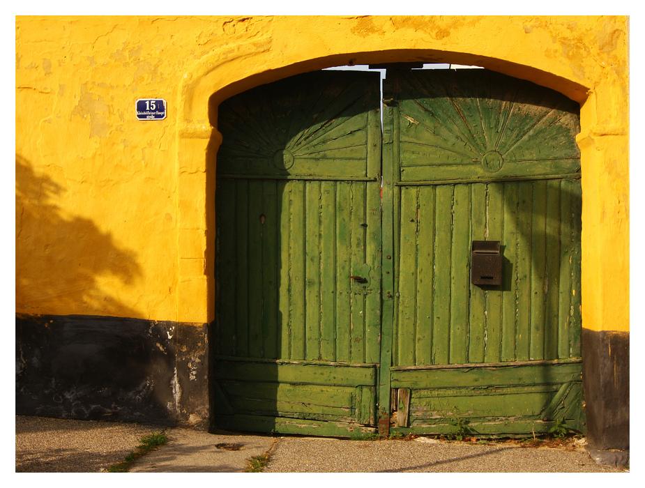 Eine Tür in Kleinhöflein