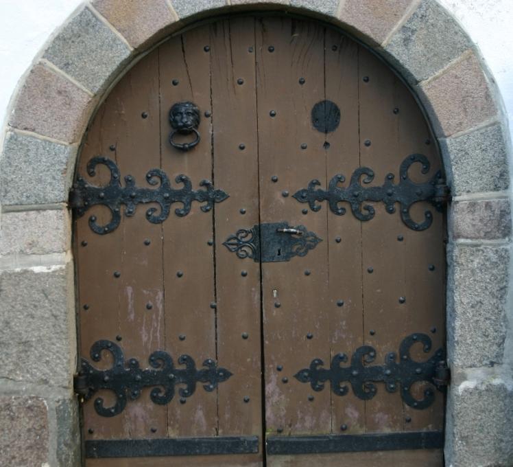 Eine Tür vom Schloß Glücksburg