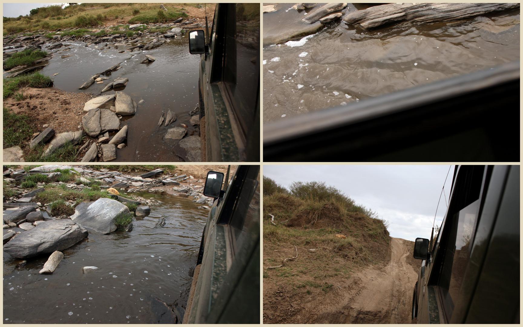 eine unserer täglichen Flussdurchquerungen durch den Talek River
