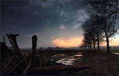 Eine unspektakuläre Landschaft, aber das Unwetter zieht ab