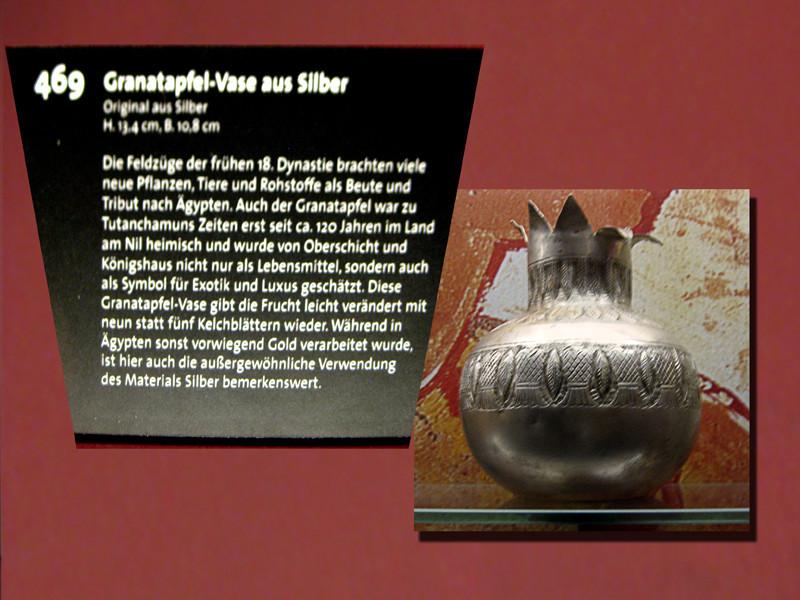 Eine Vase aus Silber