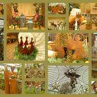 Eine Weihnachts- Advent Collage